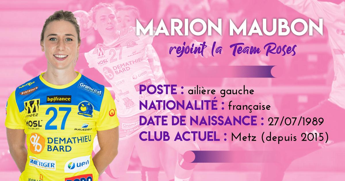 Marion Maubon, nouvelle joueuse de la Team Roses