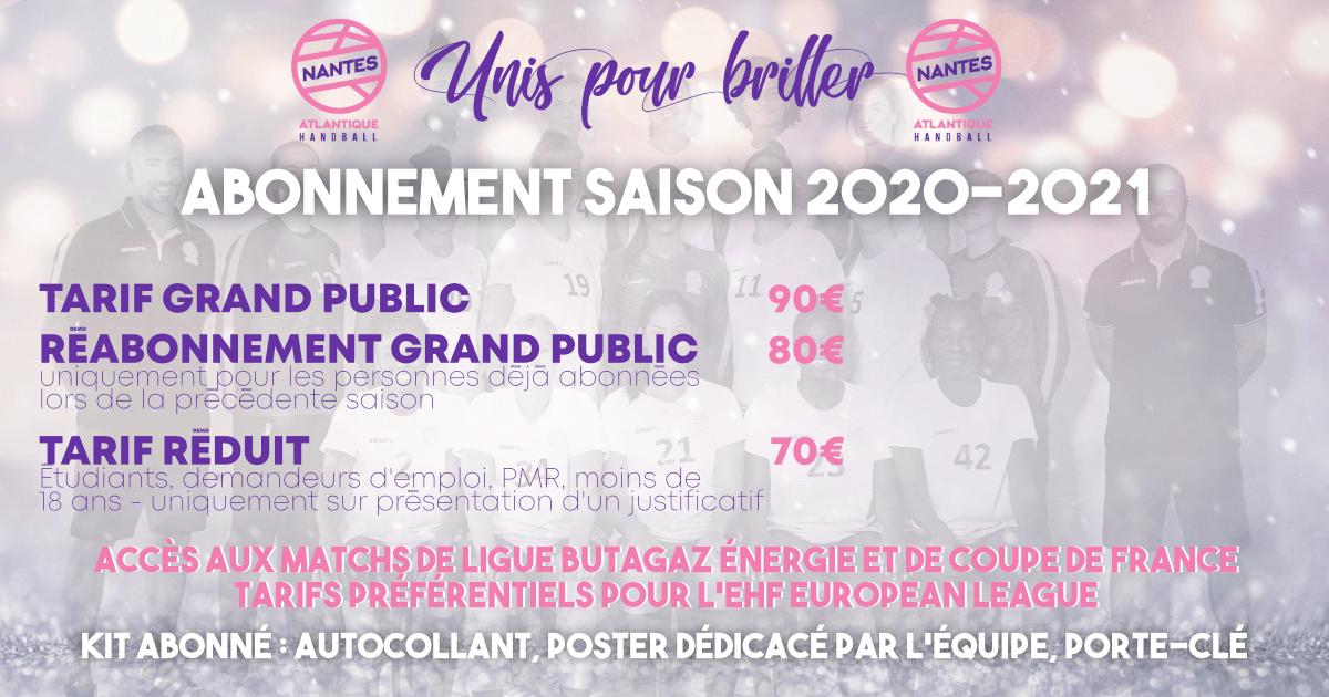 Abonnements saison 2020-2021 : venez briller avec la Team Roses
